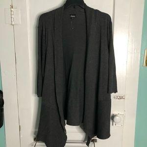 Plus Size Grey Cardigan